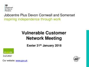 Vulnerable Customer Network Meeting