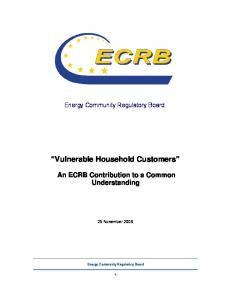 Vulnerable Household Customers