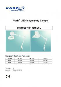 VWR LED Magnifying Lamps