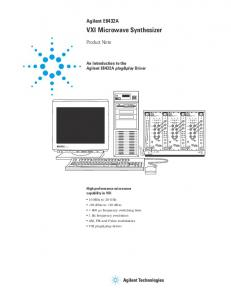 VXI Microwave Synthesizer