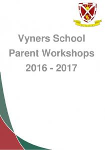 Vyners School Parent Workshops
