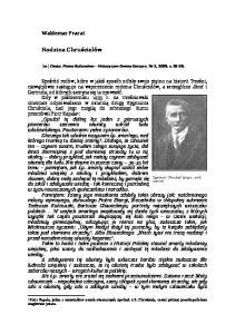 [w:] Chata, Pismo Kulturalno Historyczne Gminy Gorzyce, Nr 2, 2009, s