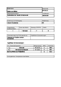 W) Credits. 1 1 Semester P 8