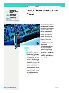 W100L: Laser Sensor in Mini- Format
