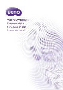 W1080ST+ Proyector digital Serie Cine en casa Manual del usuario