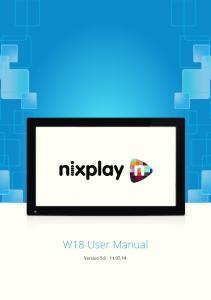 W18 User Manual. Version