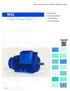 W22 Three Phase Motor