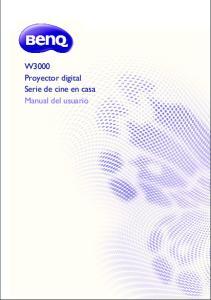 W3000 Proyector digital Serie de cine en casa Manual del usuario