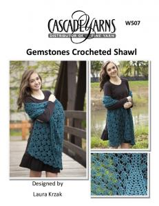 W507 Gemstones Crocheted Shawl