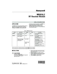 W8665E. RF Receiver Module