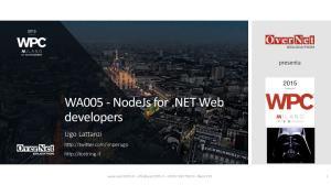 WA005 - NodeJs for.net Web developers