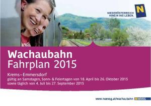 Wachaubahn Fahrplan 2015