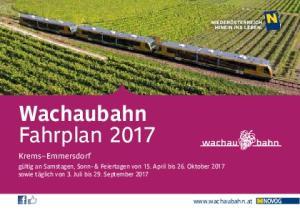 Wachaubahn Fahrplan 2017