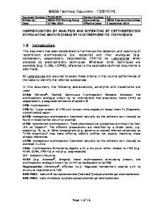WADA Technical Document TD2014EPO