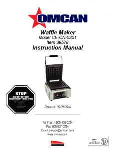 Waffle Maker. Instruction Manual