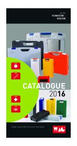 W.AG FUNKTION + DESIGN CATALOGUE Case solutions for your success