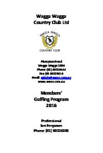 Wagga Wagga Country Club Ltd