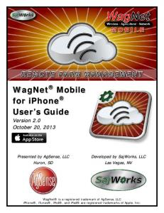 WagNet Mobile for iphone User s Guide