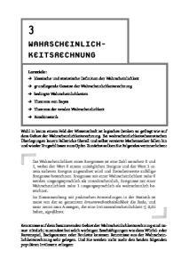 WAHRSCHEINLICH- KEITSRECHNUNG