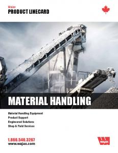 Wajax PRODUCT LINECARD MATERIAL HANDLING. Material Handling Equipment Product Support Engineered Solutions Shop & Field Services