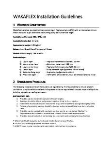 WAKAFLEX Installation Guidelines