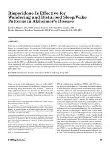 Wake Patterns in Alzheimer s Disease