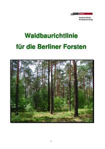 Waldbaurichtlinie für die Berliner Forsten