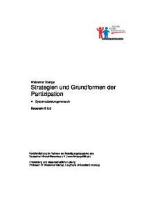 Waldemar Stange Strategien und Grundformen der Partizipation