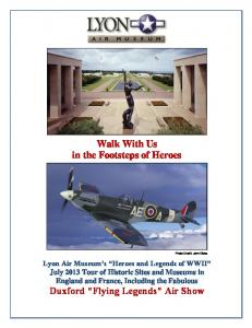 Walk With Us in the Footsteps of Heroes
