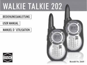 WALKIE TALKIE 202. Bestell-Nr. 2645