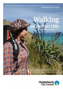 Walking. on the Port Hills Correct as of July Christchurch City Council
