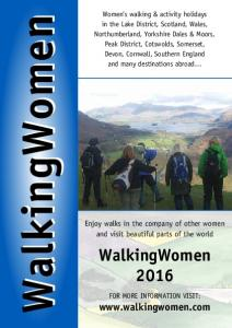 WalkingWomen. Enjoy walks in the company of other women and visit beautiful parts of the world