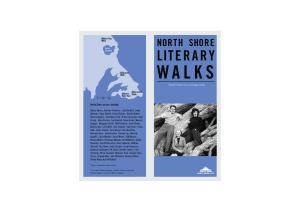 WALKS NORTH SHORE LITERARY. North Shore City heritage trails. North Shore writers include: