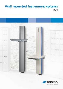 Wall mounted instrument column IC-1