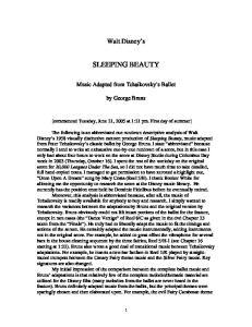 Walt Disney s SLEEPING BEAUTY. Music Adapted from Tchaikovsky s Ballet. by George Bruns