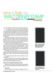 WALT DISNEY STAMP BY EDWARD BERGEN