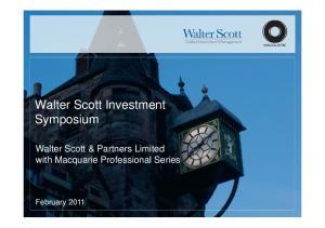 Walter Scott Investment Symposium