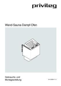 Wand-Sauna-Dampf-Ofen