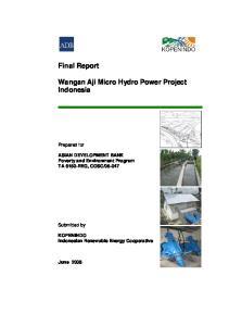 Wangan Aji Micro Hydro Power Project Indonesia