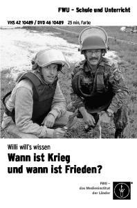Wann ist Krieg und wann ist Frieden?