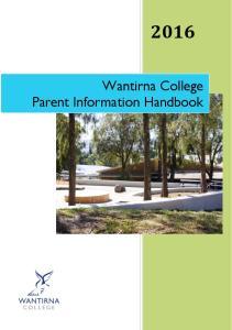 Wantirna College Parent Information Handbook