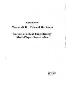 Warcraft 11: Tides of Darkness