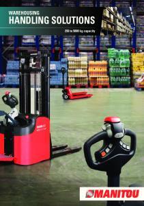 warehousing handling solutions 250 to 5000 kg capacity