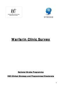 Warfarin Clinic Survey