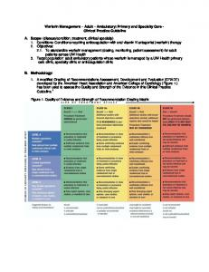 Warfarin Management Adult Ambulatory: Primary and Specialty Care - Clinical Practice Guideline