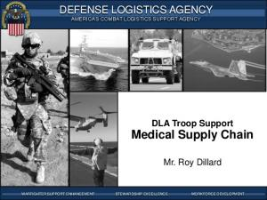 WARFIGHTER-FOCUSED, GLOBALLY RESPONSIVE, FISCALLY RESPONSIBLE SUPPLY CHAIN LEADERSHIP