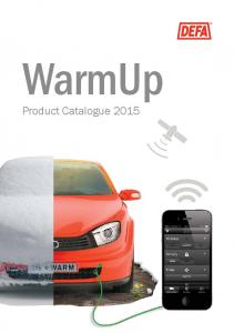 WarmUp Product Catalogue 2015