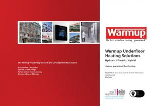 Warmup Underfloor Heating Solutions