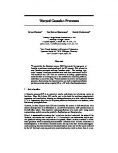 Warped Gaussian Processes