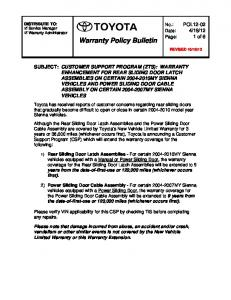Warranty Policy Bulletin